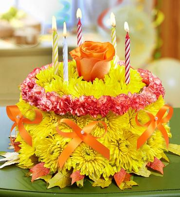 Birthday Wishes Flower Cakes 1800flowerscom