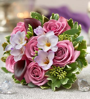 Purple Elegance Rose Bouquet