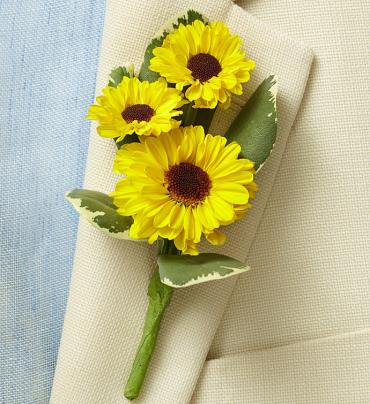 Country Charm Boutonniere