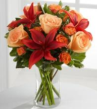 The Fall lily and Rose Bouquet