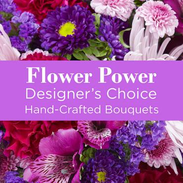 A Purple Colored Florist Designed Bouquet
